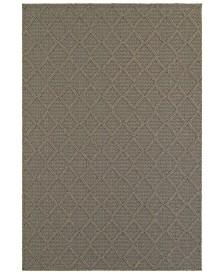 """CLOSEOUT! Oriental Weavers  Santa Rosa 2331Y Gray/Gray 7'10"""" x 10'10"""" Indoor/Outdoor Area Rug"""