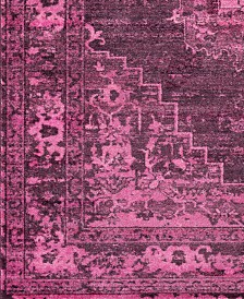 "Surya Silk Road SKR-2319 Bright Pink 18"" Square Swatch"