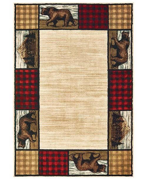 "Oriental Weavers Woodlands 9603C Ivory/Multi 9'10"" x 12'10"" Area Rug"