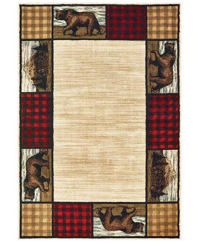 "Oriental Weavers Woodlands 9603C Ivory/Multi 1'10"" x 3' Area Rug"