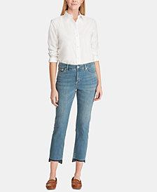 Lauren Ralph Lauren Petite Premier Straight Ankle Jeans