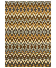 "Oriental Weavers Bali 1732D Gray/Gold 2'5"" x 4'5"" Indoor/Outdoor Area Rug"
