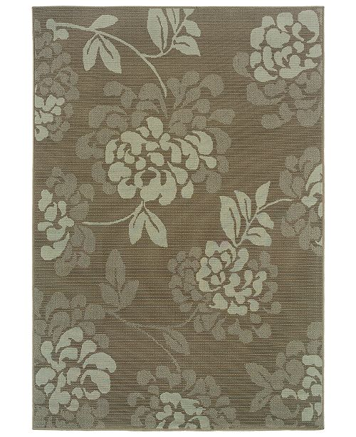 """Oriental Weavers Bali 4335B Gray/Blue 7'10"""" x 10'10"""" Indoor/Outdoor Area Rug"""