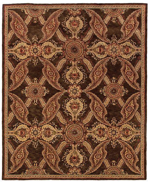 """Oriental Weavers Huntley 19112 Brown/Rust 5'3"""" x 8'3"""" Area Rug"""