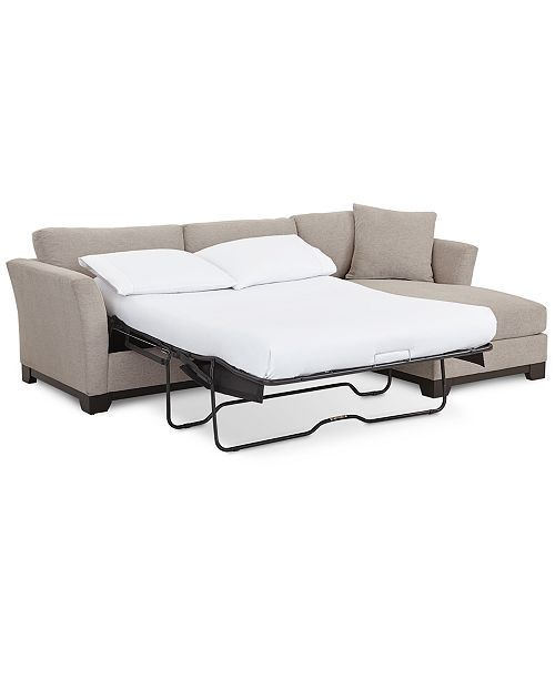 Furniture Elliot Ii 107 Quot Fabric 2 Pc Chaise Sleeper