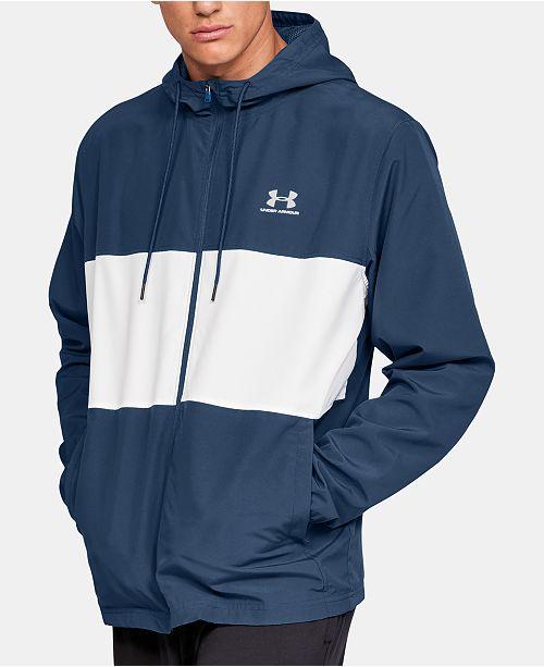 c2850614a Men's Sportstyle Colorblocked Hooded Windbreaker