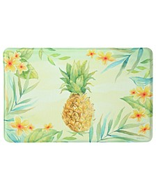 "Tropical Pineapple Memory Foam Rectangle 22""x35"" Accent Rug"