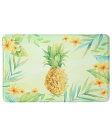 "Bacova Tropical Pineapple Memory Foam Rectangle 22""x35"" Accent Rug"