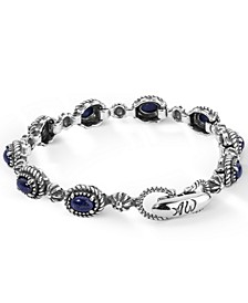 Blue Lapis Tennis Bracelet in Sterling Silver