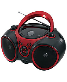 Portable CD Player with LED Display, AM-FM Stereo Radio, Aux Input