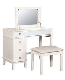 Eva Vanity Set with Bench and Mirror