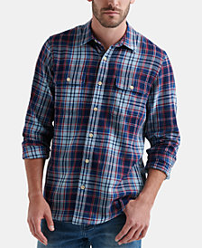 Lucky Brand Men's Two-Pocket Workwear Plaid Shirt