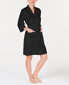 Charter Club Stripe-Texture Knit Robe, Created for Macy's