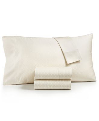 Textured Prism Cotton 525-Thread Count 4-Pc. Queen Sheet Set, Created for Macy's