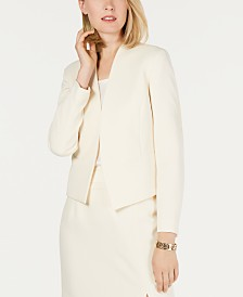 Nine West Crepe Flyaway Jacket