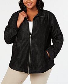 Karen Scott Plus Size Denim Jacket, Created for Macy's