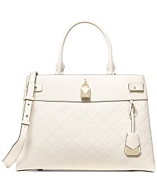 MICHAEL Michael Kors Gramercy Chain Embossed Leather Satchel