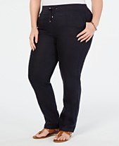 7d9723d2 Tommy Hilfiger Plus Size Linen Slim-Leg Pants, Created for Macy's