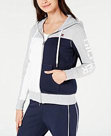 Tommy Hilfiger Sport Fleece Colorblocked Zip-Front Hoodie