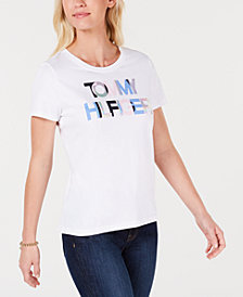 Tommy Hilfiger Overlapping-Logo T-Shirt, Created for Macy's