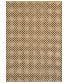 "CLOSEOUT! Oriental Weavers  Santa Rosa 5991D Brown/Sand 3'3"" x 5' Indoor/Outdoor Area Rug"