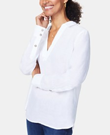 NYDJ Linen High-Low Tunic