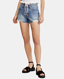 Free People Sofia Cotton Distressed Raw-Hem Shorts