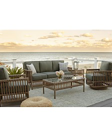 Lavena Outdoor 3-Pc. Seating Set (1 Sofa & 2 Club Chairs) with Sunbrella® Cushions, Created for Macy's