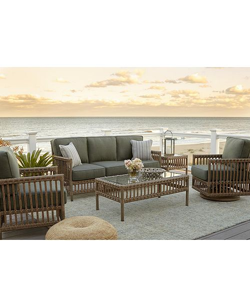 Furniture Lavena Outdoor Sofa With Sunbrella Cushions Created For