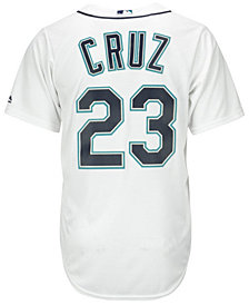 Majestic Men's Nelson Cruz Seattle Mariners Player Replica Cool Base Jersey