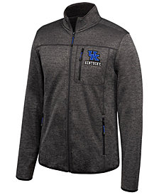 Authentic NCAA Apparel Men's Kentucky Wildcats Heathered Flint Rock Full-Zip Jacket