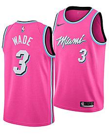 Nike Men's Dwyane Wade Miami Heat Earned Edition Swingman Jersey