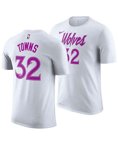 promo code b63e9 5f15d Nike Men's Karl-Anthony Towns Minnesota Timberwolves Earned ...