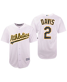 Majestic Men's Khris Davis Oakland Athletics Player Replica Cool Base Jersey