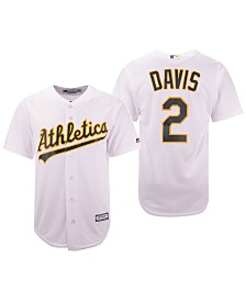 Majestic Men's Khris Davis Oakland Athletics Player Replica Cool Base Jersey