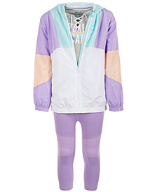 Ideology Big Girls Colorblocked Hooded Jacket, Lace-Up T-Shirt & Capri Leggings, Created for Macy's