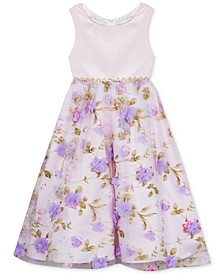 Little Girls 3D Floral Organza Dress