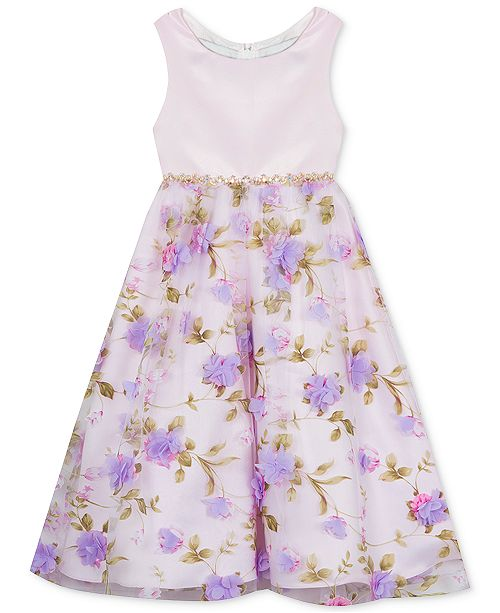 Rare Editions Matching Sister Baby, Toddler & Little Girls Floral-Print Dress