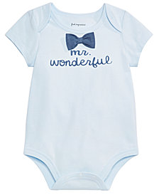 First Impressions Baby Boys Mr. Wonderful Graphic Bodysuit, Created for Macy's
