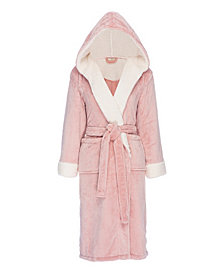 Hooded Sherpa Fleece Robe
