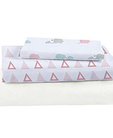 Viscose From Bamboo Triangles Crib Sheet Set