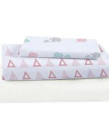 Triangles Bamboo Viscose Crib Sheet Set