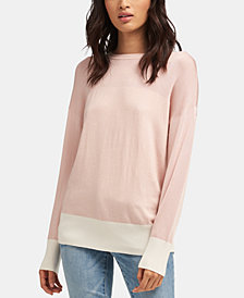 DKNY Colorblocked Sweater, Created for Macy's