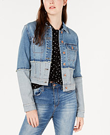 American Rag Juniors' Cotton Cropped Denim Jacket, Created for Macy's