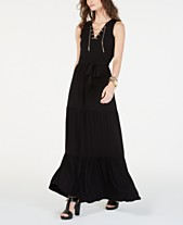 2ccb7bfc7 MICHAEL Michael Kors Chain Lace-Up Maxi Dress, In Regular & Petite Sizes