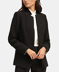 DKNY Pinstriped-Trim Blazer, Created for Macy's