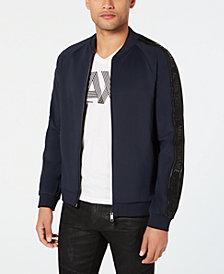 A|X Armani Exchange Men's Colorblocked Baseball Jacket