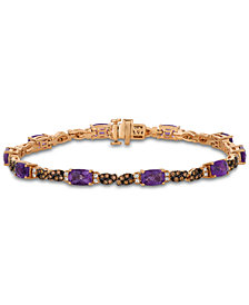Le Vian® Grape Amethyst (4-1/2 ct. t.w.), Chocolate Diamond (3/4 ct. t.w.) and Vanilla Diamond (1/4 ct. t.w.) Tennis Bracelet in 14k Rose Gold