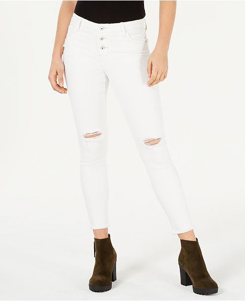 475be0418e08 Vanilla Star Juniors' Ripped White Skinny Jeans & Reviews - Jeans ...
