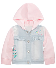 First Impressions Baby Girls Ruffle Denim Jacket, Create for Macy's